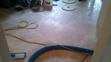 Before Travertine Tile Polishing by J2 Cleaning Las Vegas