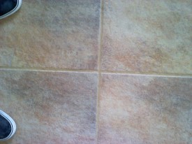 After J2 Tile and Grout Cleaning Las Vegas performed their magic. Deep steam, hot water extraction tile cleaning gets deep down in the grout.