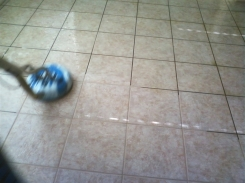 J2 Tile and Grout Cleaning Las Vegas in progress